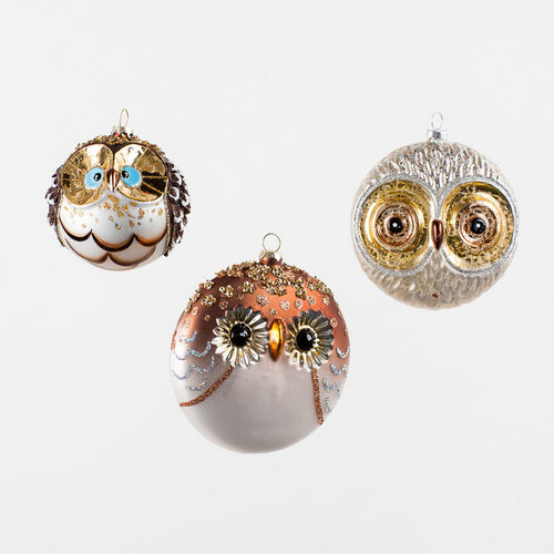 Owl Christmas Ornament: Japanese Owl Ball Christmas ...