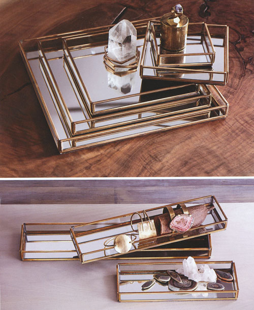 Cour Napoleon Mirrored Glass Jewelry Display Serving