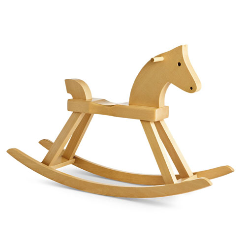 Kay Bojesen: Wooden Rocking Horse By Rosendahl
