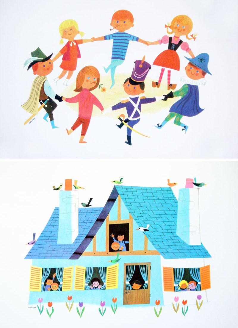 Kids Room Decor Alain Gree Posters Set Of 2 NOVA68 Modern Design