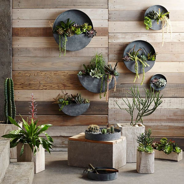 Akari Natural Wood Indoor Planter Pots Nova68 Com