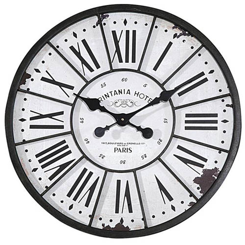 Large 24 5 French Hotel Paris Wall Clock Vintage Antique Style