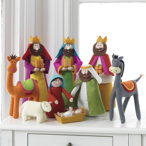 Colorful Fabric Nativity Scene In Cloth Nova68 Com