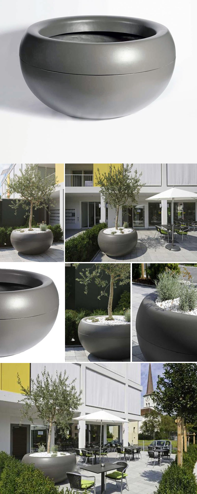Aladin extra large commericial planter outdoor pots for trees click to view additional images