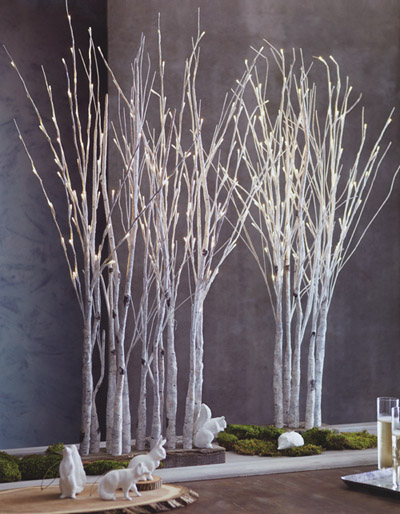 Lighted Birch Tree Forest Nova68 Modern Design