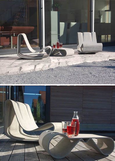 Willy Guhl Loop Table Modern Concrete Outdoor Garden Table