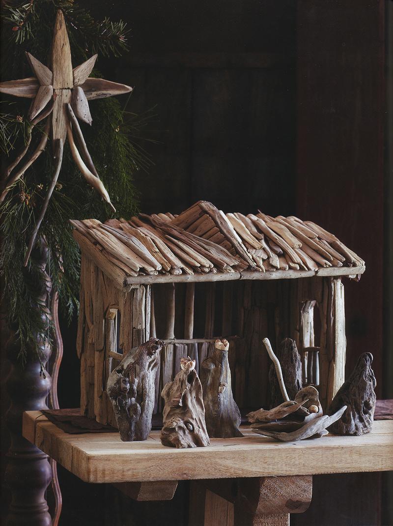 Classic Wooden Manger Nativity Set Christmas Decor NOVA68com