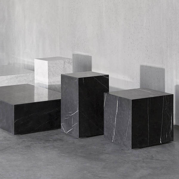 Classic Marble Side Table   Square/Plinth/Pedestal