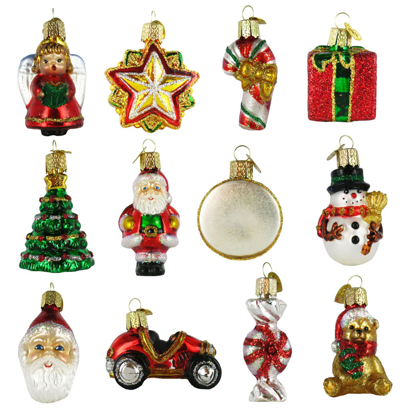 nostalgic miniature glass christmas ornament gift set 12 pc click to view additional images