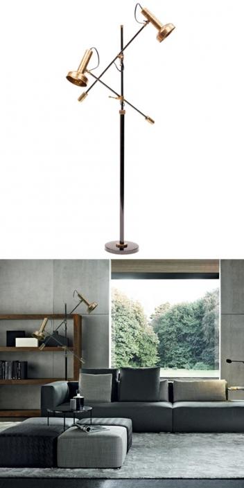 Mid Century Modern Floor Lamp Milano