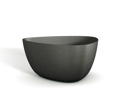 17 21 28inch Black Fibercement Contemporary Box Planter