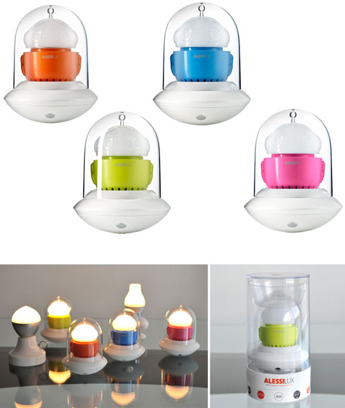 Alessi Rechargeable Modern Ufo Nursery Night Light