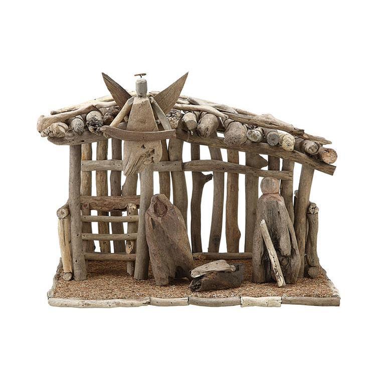 Modern Wood Nativity Manger NOVA68com