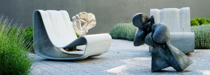 Modern Outdoor Loop Chair by Willy Guhl
