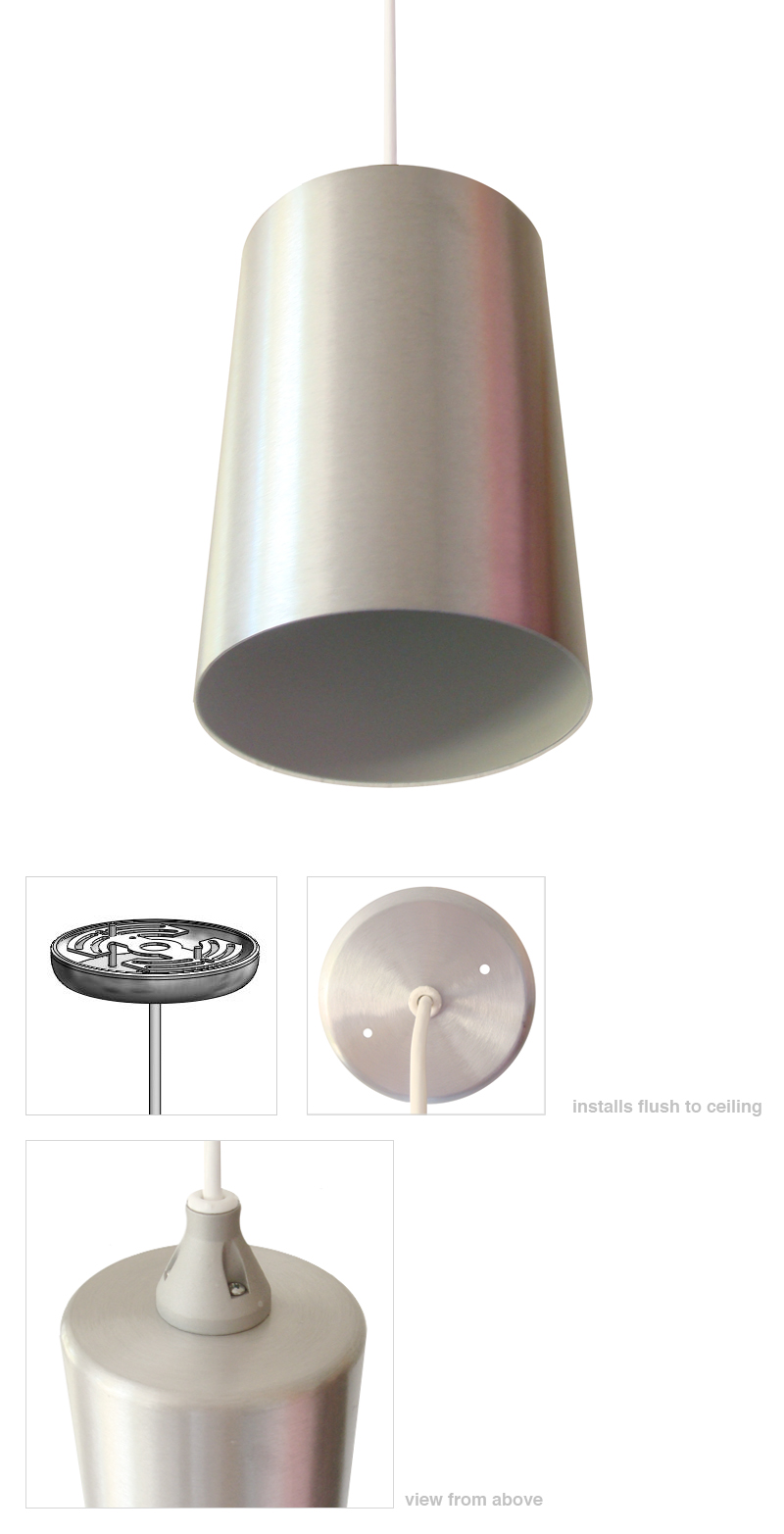Mid century modern pendant light modern cylinder lamp Modern pendant lighting