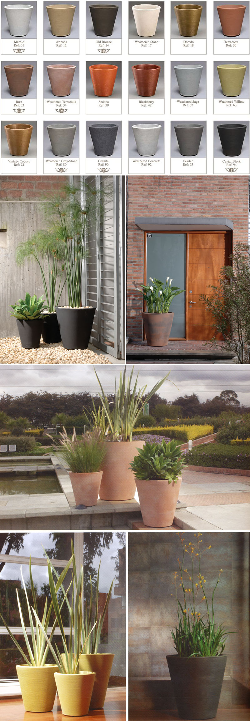 modern planters madison planter  inch height x  inch width  - modern planters madison planter  inch height x  inch width