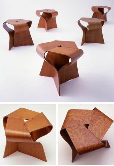 Tendo Japanese Furniture Yamanaka Group Mushroom Stool