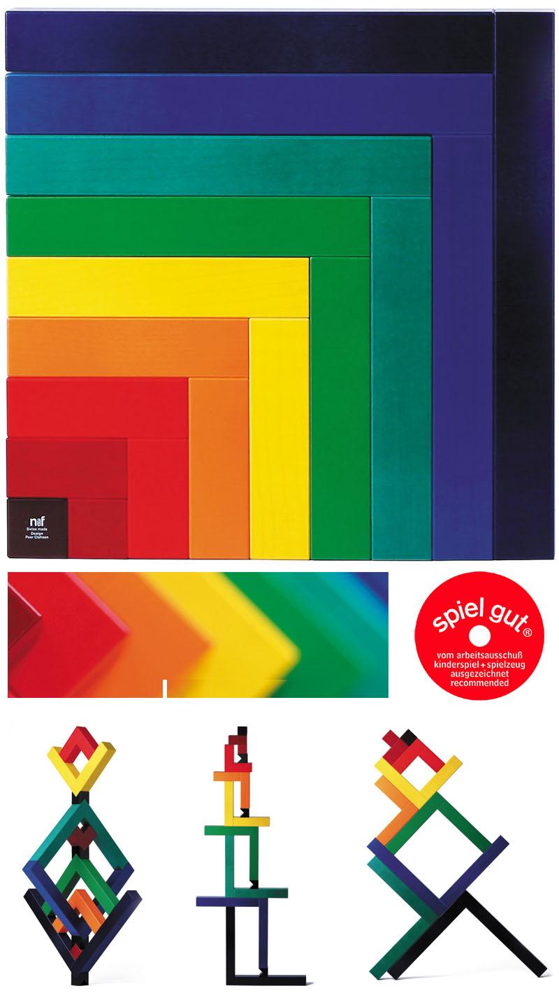 Naef Angular Wooden Puzzle Block Toy Nova68 Modern Design