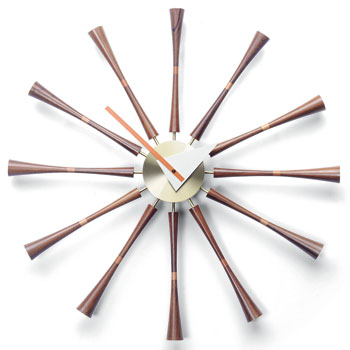 Vitra 21501103 Vitra Spindle Wall Clock In Walnut By
