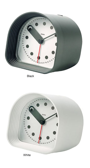 Joe Colombo Optic Clock Modern Alessi Alarm Clocks