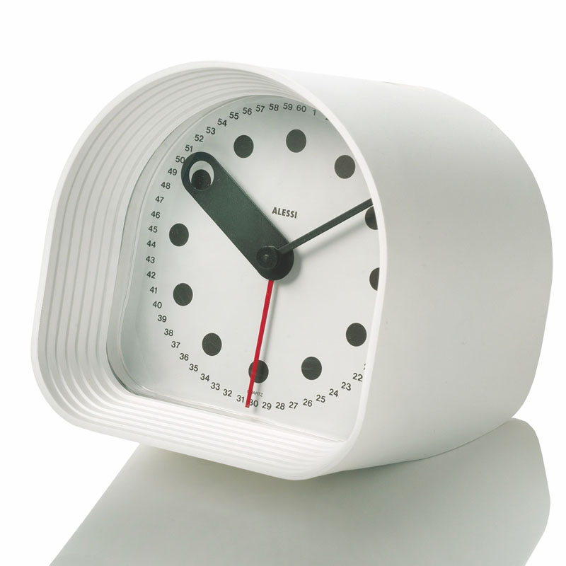 Joe colombo optic clock modern alessi alarm clocks for Designer alarm clock