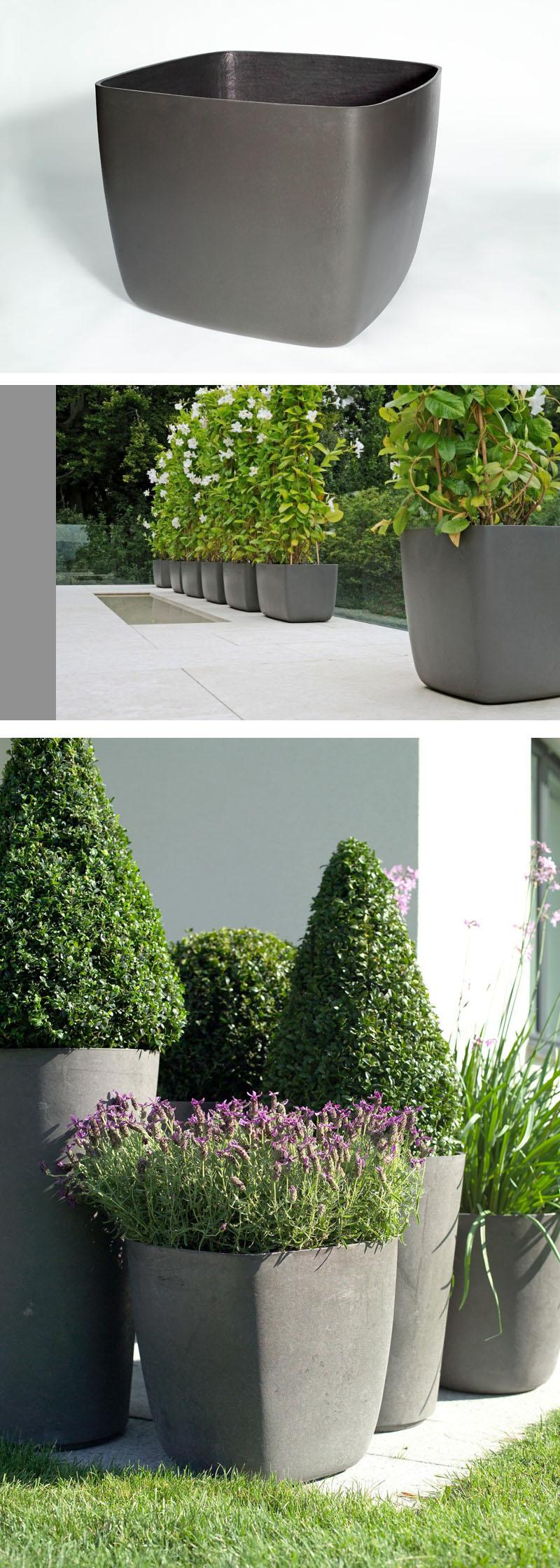 Osaka Large Square Garden Planter/Plant Pot With Rounded
