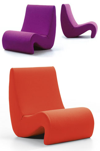 verner panton amoebe chair vitra lounge chairs nova68 modern design. Black Bedroom Furniture Sets. Home Design Ideas