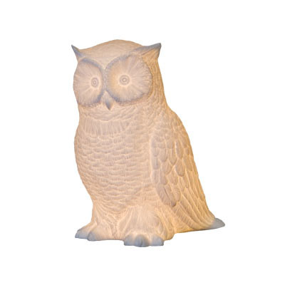 Horned owl 10 high white porcelain accent table lamp nova68 horned owl 10 high white porcelain accent table lamp mozeypictures Choice Image