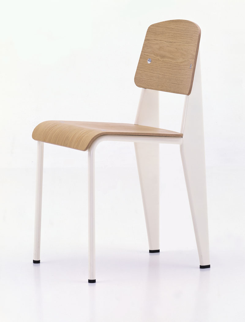 Vitra Standard Chair Cream Jean Prouv Chairs NOVA68com