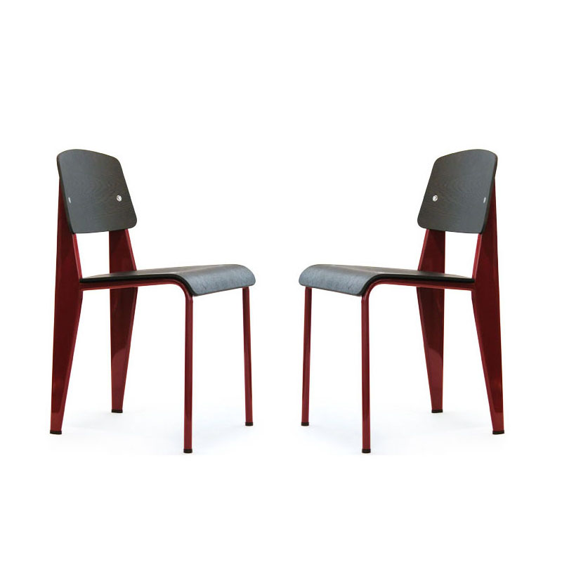 Vitra standard chair japon rouge jean prouv chairs - Jean prouve chaise standard ...
