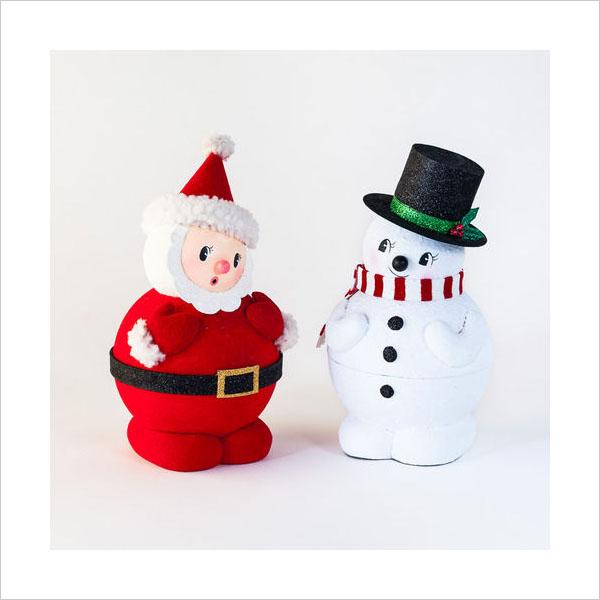 Christmas Snowmen Decorations.Outdoor Snowman Christmas Decorations Terra Cotta Snowman