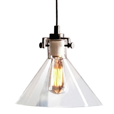 Classic glass meridian pendant light - Clear glass pendant lights for kitchen island ...