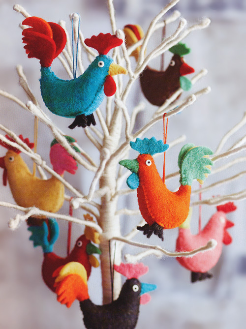Rocky Rooster Christmas Tree Ornaments Set of 14 - Rocky Rooster Christmas Tree Ornaments Set Of 14: NOVA68.com