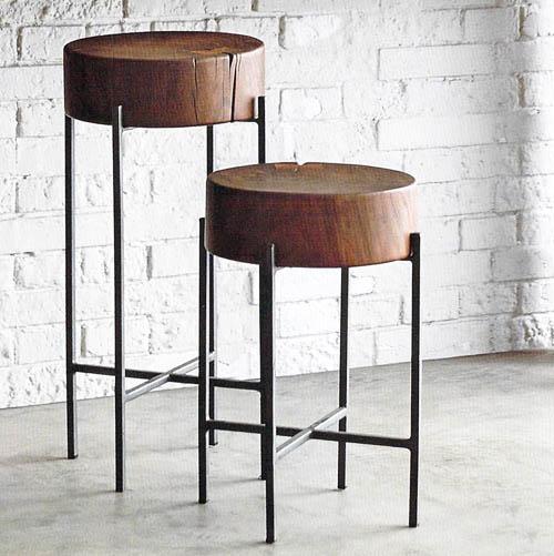 Tahoe Wood Side Tables Nova68 Com