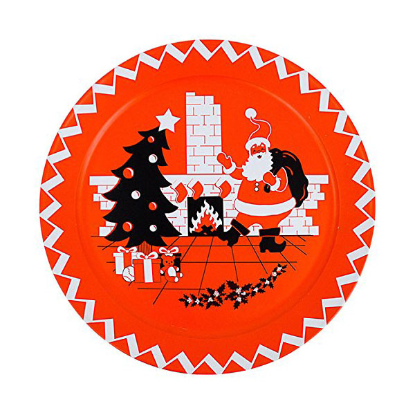 Retro Christmas Decorations Santa Serving Plate Classic