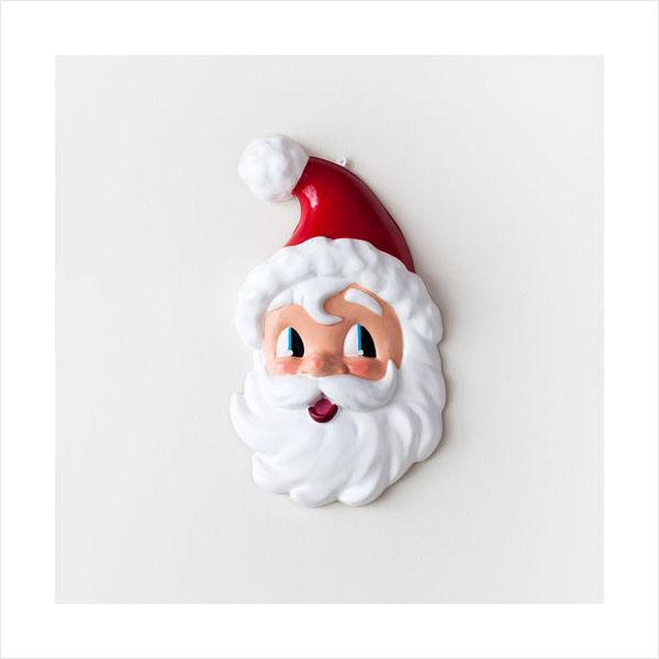 santa head wall decor ornament retro christmas decoration click to view additional images - Vintage Christmas Wall Decor