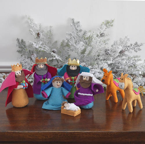 Small Cloth Nativity Set Multi Color Nova68 Com