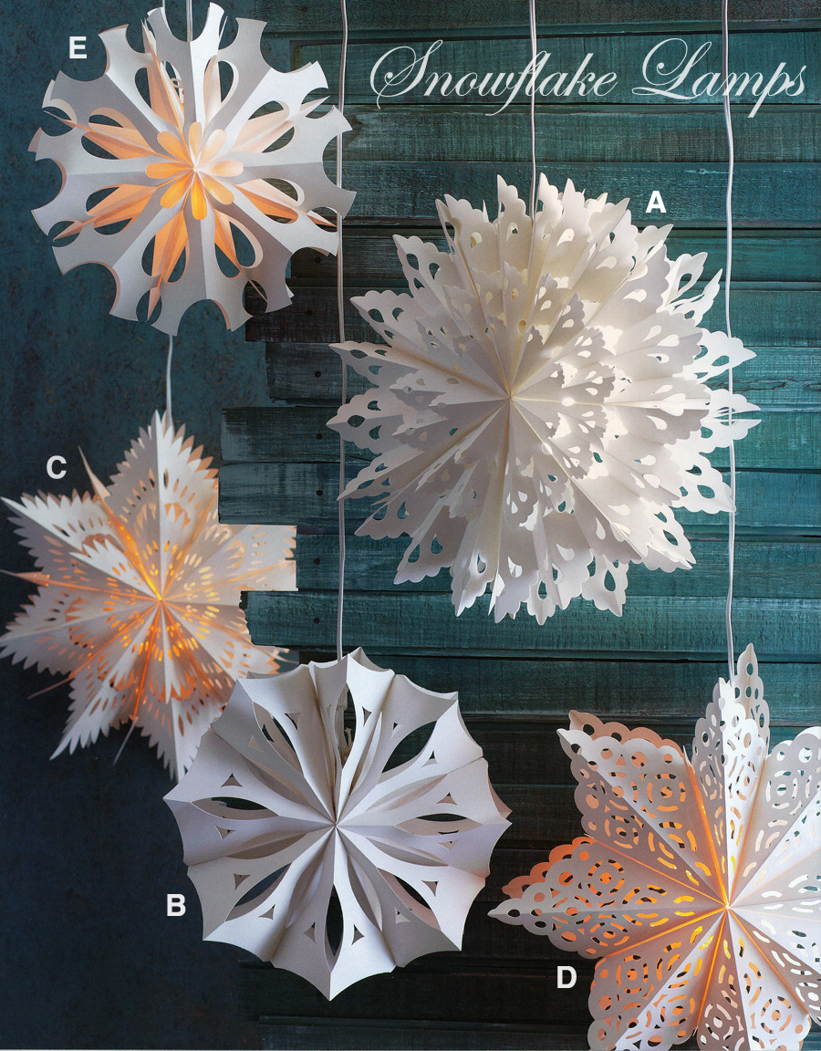 Large Holiday Snowflake Lights Pendant Lamp