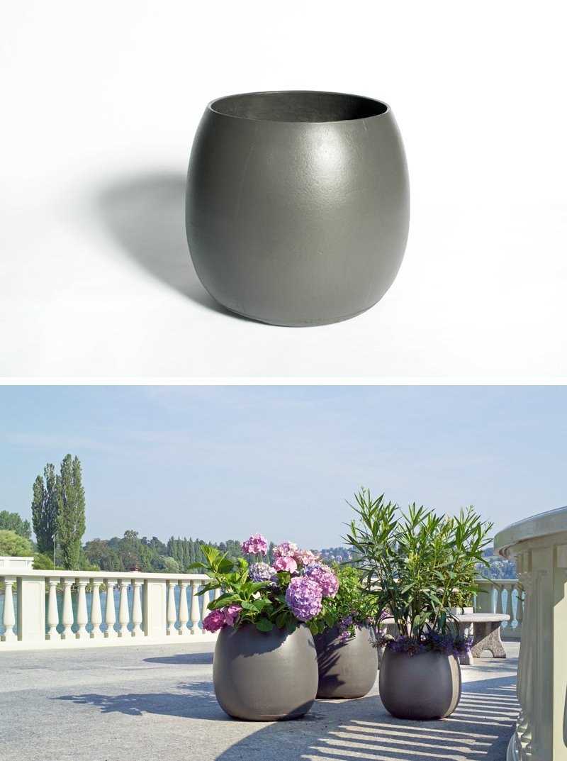Sumo Modern Barrel Shaped Outdoor Garden Design Planter