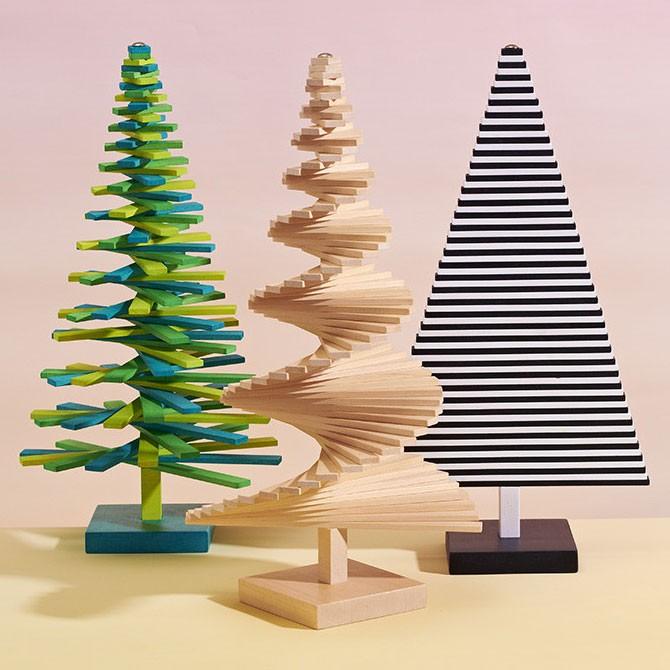 modern christmas tabletop green christmas tree in gift packaging - Modern Christmas Tree