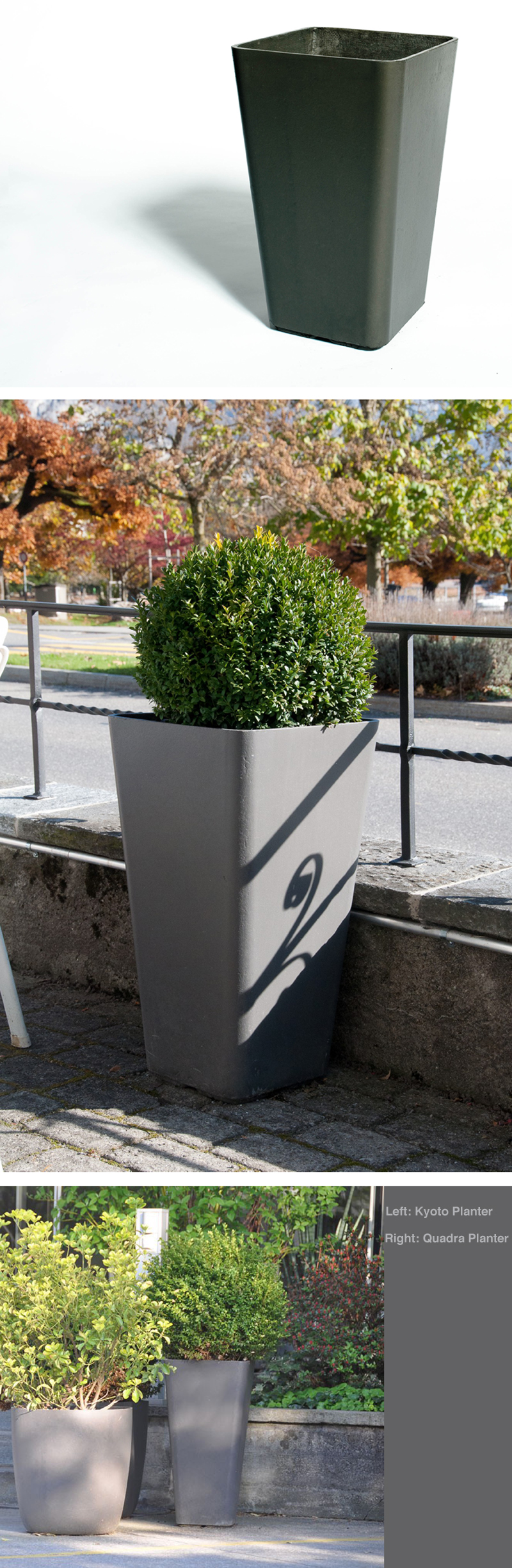QUADRA Tall Planter Pots Outdoor Planter Design NOVA68com