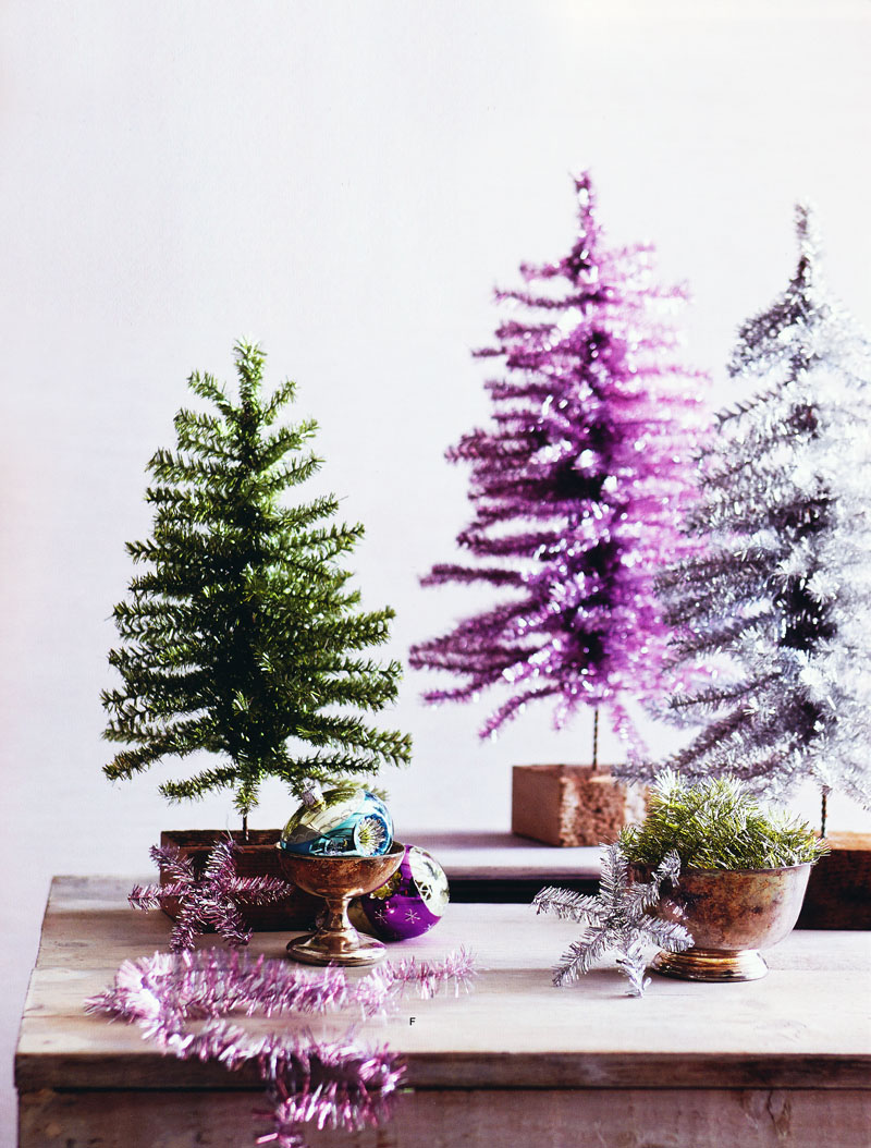 Awesome Christmas Tree Tabletop Part - 11: Tinsel Tabletop Christmas Tree / Tinsel Theme Small Christmas Tree Click To  View Additional Images