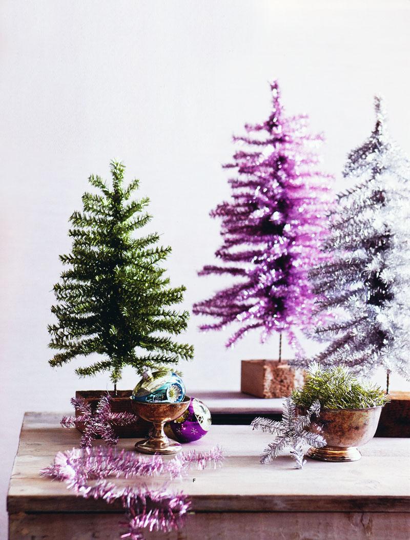 Tinsel Small Tabletop Christmas TreeB