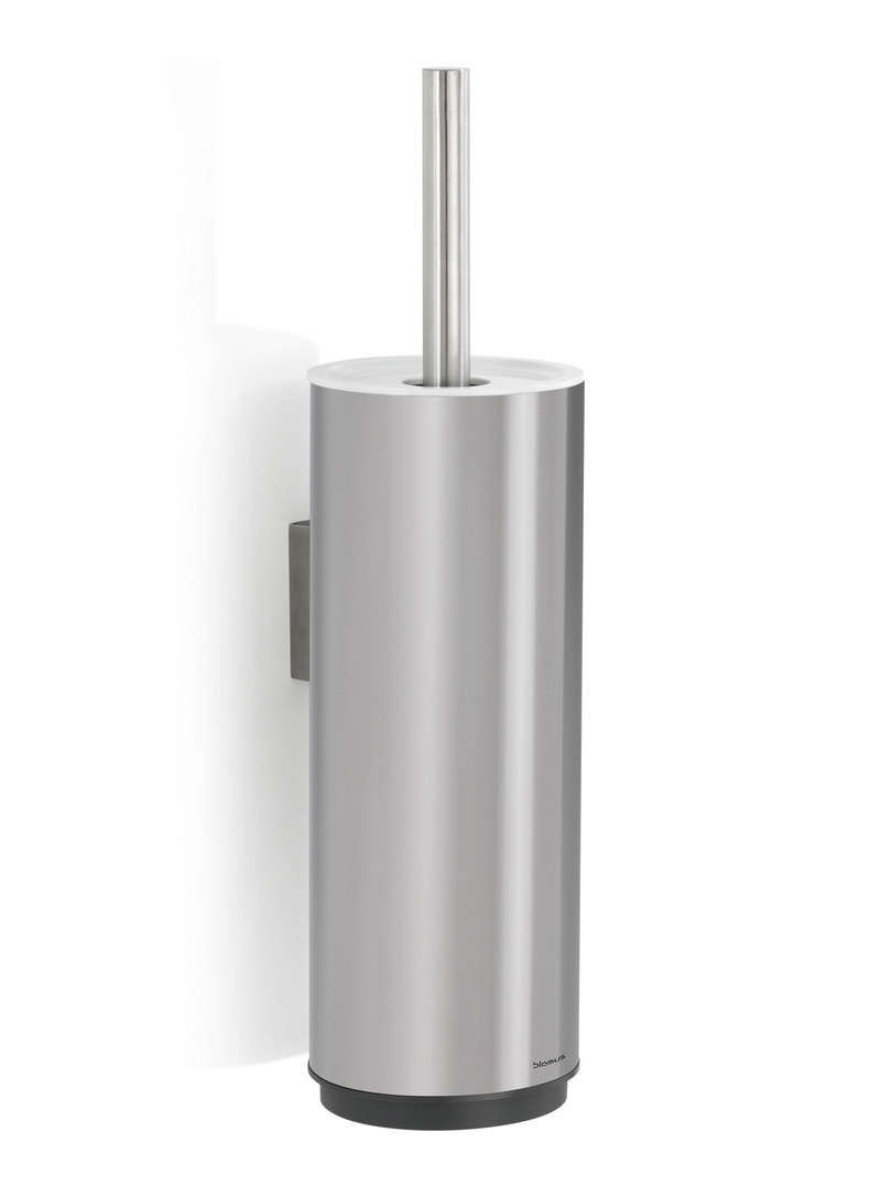 Bathroom Accessories Wall Mounted bathroom accessories: blomus sento wall mounted toilet brush steel