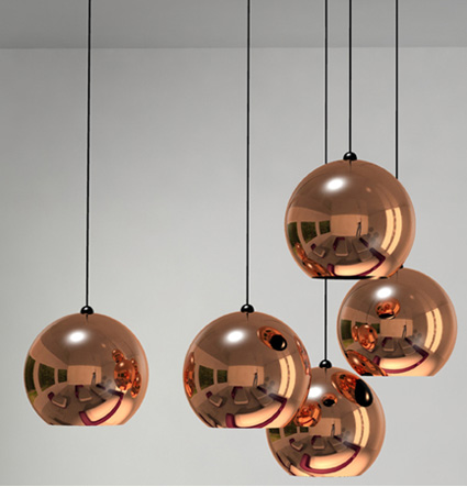 copper pendant pendants tom dixon copper shade lamps nova68 modern design. Black Bedroom Furniture Sets. Home Design Ideas
