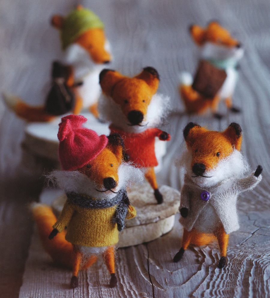 Foxy Friends Party Christmas Tree Ornaments Set of 5 ...
