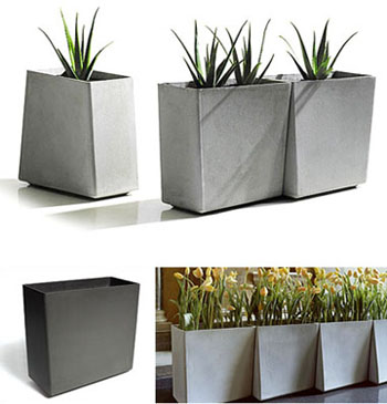 images planter concrete vierkant on martadani house modern atelier plants green planters pinterest best