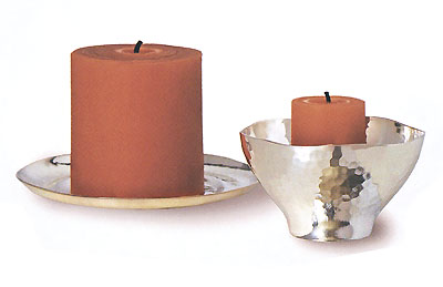 hammered silver collection candle votive holders tray and votive