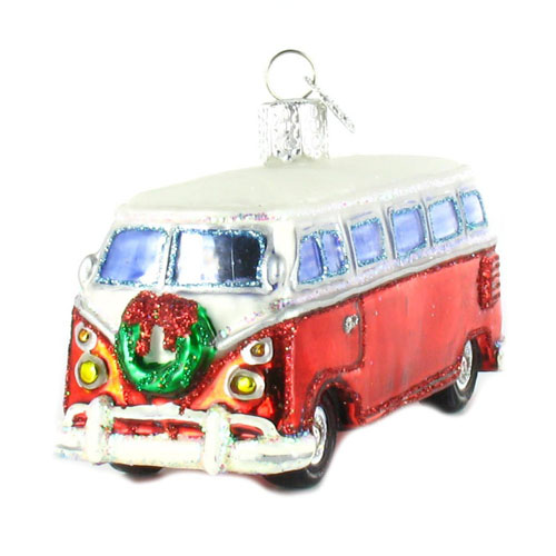 Volkswagen Bus Samba Camper Van Ornament Set Of 3 NOVA68com
