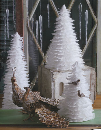 beautiful white feather christmas trees set of 3 - White Christmas Trees On Sale